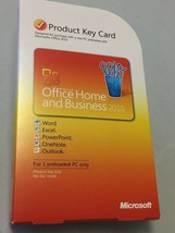 Microsoft Office 2010 Home and Business Product Key Card - GENUINE - $64.99