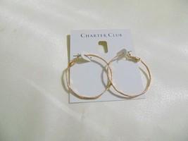 "Charter Club 1.5"" Medium Gold-Tone Thin Hoop Earrings H969 - $9.59"