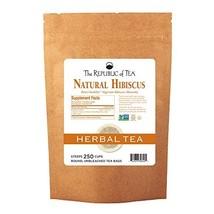 The Republic of Tea Natural Hibiscus Superflower Herbal Tea, 250 Tea Bags, Ruby  - $47.87