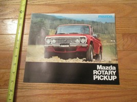 Mazda Rotary Pickup 1977 1 page 2 sided Car auto Dealer showroom Sales B... - $9.99