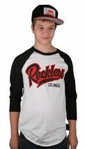 Young and Reckless Kill Switch Raglan Baseball 2XL XXL White Black T-Shirt