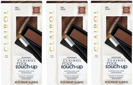 3 PACK Clairol Temporary ROOT TOUCH-UP Conceal Powder Precise Coverage Red Roux - $21.49