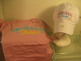 NWT Universal Studios Orlando Girl's T-Shirt, Baseball Hat & Bracelet Yo... - $14.01