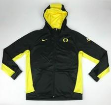 New Nike Oregon Ducks Team Full Zip Therma Hoodie Jacket Men's L Black 8... - $45.53