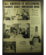 1950 Cook's Early American Wine Ad - Claire Trevor, Dan Duryea, Michael ... - $14.99
