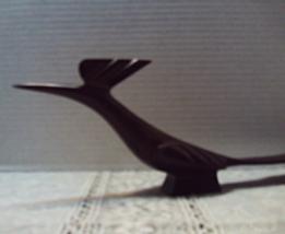 Vintage Hand Carved Iron Wood ROOD RUNNER Figur... - $17.25