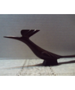 Vintage Hand Carved Iron Wood ROOD RUNNER Figurine Southwestern Decor Birds - $17.25
