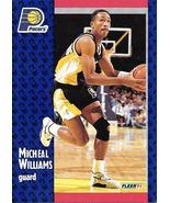Michael Williams ~ 1991-92 Fleer #88 ~ Pacers - $0.05