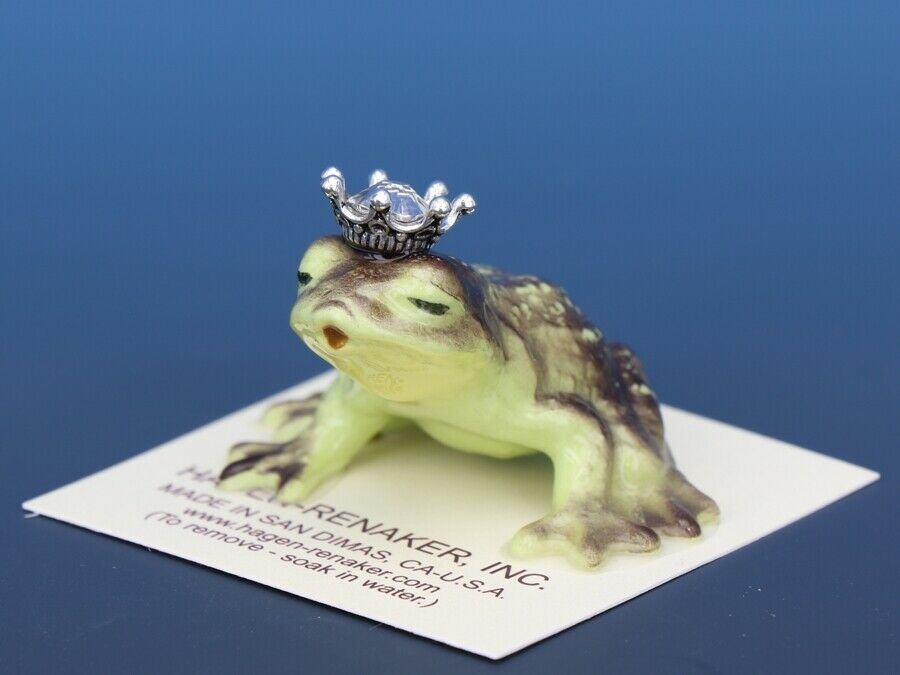 Birthstone Frog Prince Kissing April Diamond Miniatures by Hagen-Renaker