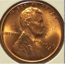 1950-D Lincoln Wheat Penny GEM BU #0930 - $1.69