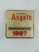 California Angels 1987 Pin California Fresh Eggs - $9.59