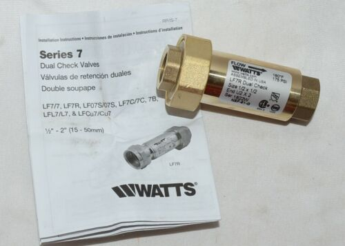 Watts Lead Free Residential Dual Check Valve Union Female NPT