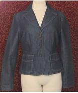 ANN TAYLOR blue cotton denim blazer jacket 4 (T42-03A8G) - $19.79