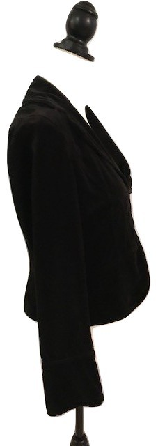 Ann Taylor LOFT Black tailored women's velveteen jacket/blazer - easy care - Sz4