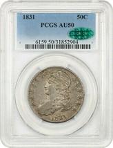 1831 50c PCGS/CAC AU50 - Bust Half Dollar - $412.25