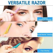 42 Pcs Eyebrow Razor Eyebrow Trimmer Shaver Shaver Facial Razor for Men Women image 4