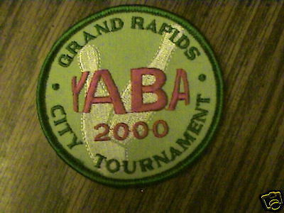 YABA GRAND RAPIDS CITY TOURNAMENT YR 2000 BOWLING PATCH