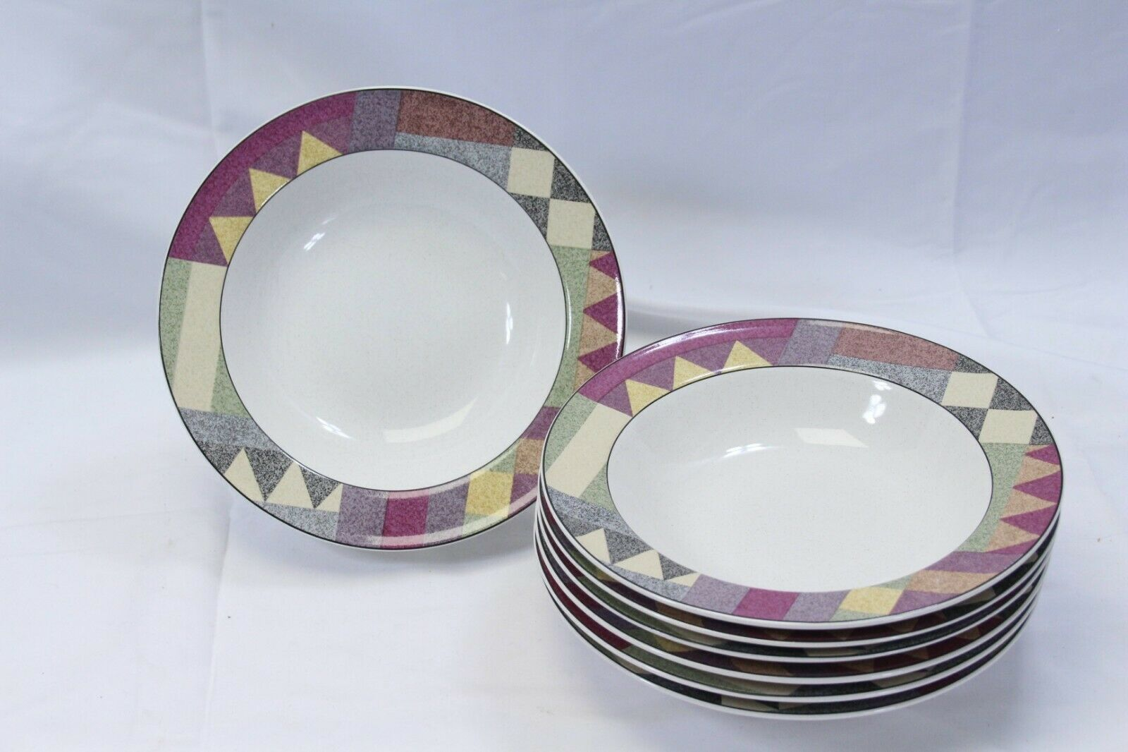 "Primary image for Studio Nova Palm Desert Rim Soup Bowls 8.25"" Lot of 9"
