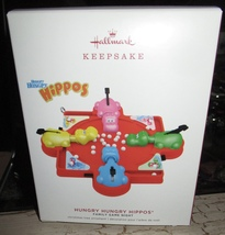 HALLMARK 2019 HUNGRY HUNGRY HIPPOS GAME NIGHT CHRISTMAS ORN NEW IN ORIG BOX - $19.95