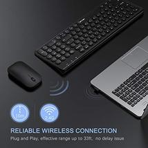 Rechargeable Wireless Keyboard and Mouse, Jelly Comb 2.4GHz Ultra Slim Quiet Key image 5