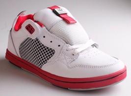 Supra Hommes Cuir Blanc Rouge Cruizer Lo Haut Planche Chaussures Baskets Neuf En