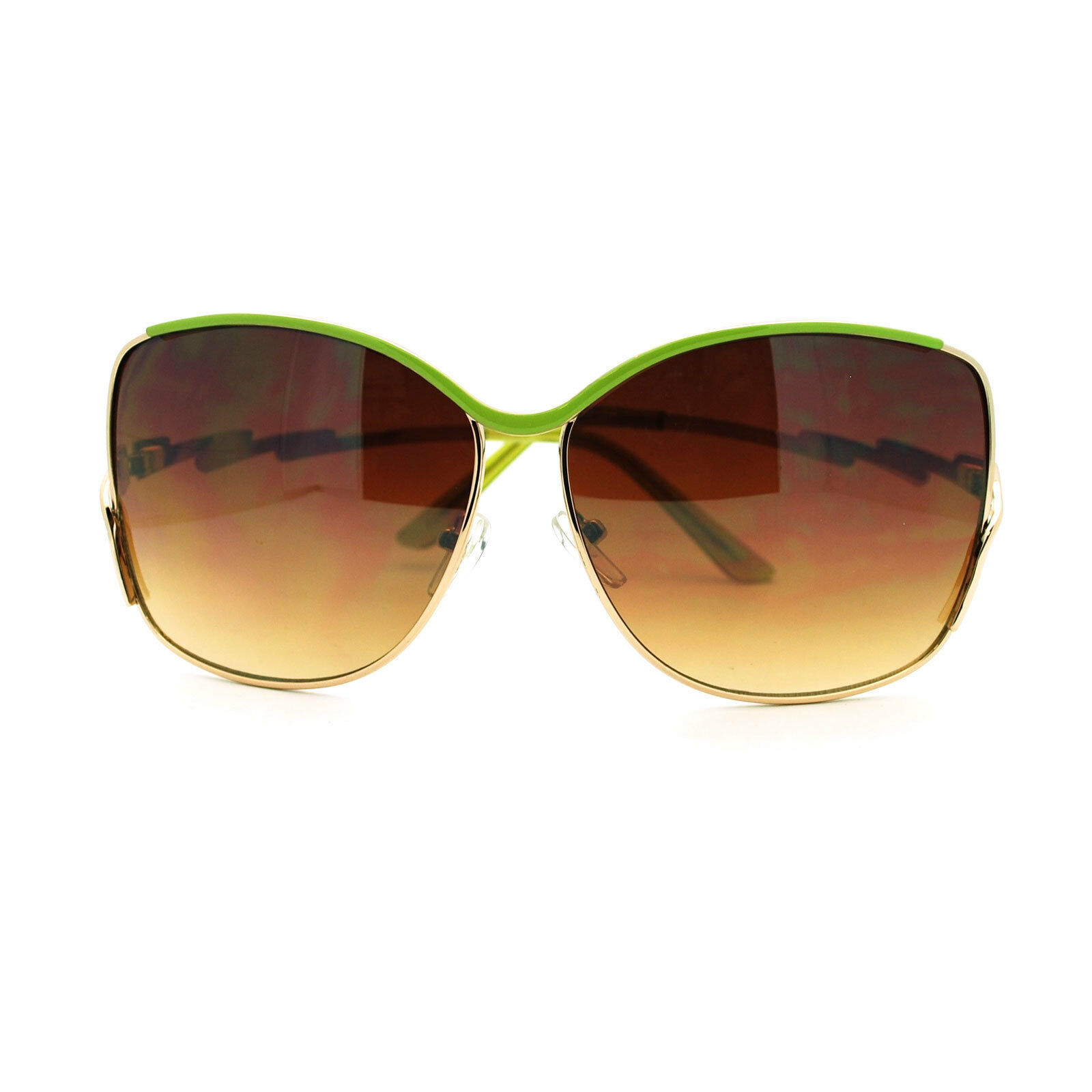 Flash Bolt Design Sunglasses Womens Metal Butterfly Frame