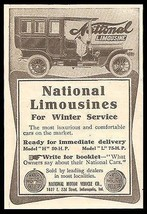 National Limousine Antique Print AD 1907 National Motor Vehicle IN - $14.99