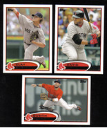 2012 Topps Boston RED SOX Team Set Both Series 1 & 2 (20 cards) - $3.00