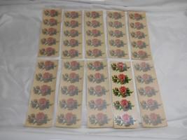 Antique Acme Decalcomania #1277 ROSE FLOWER DECALS Restoration 10 sheets... - $49.49