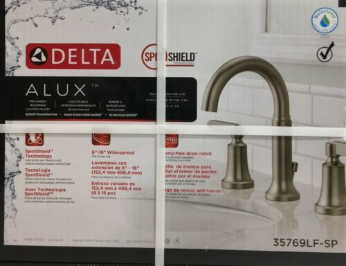Delta Alux Spotshield Brushed Nickel 2 Handle Widespread