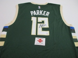 JABARI PARKER - MILWAUKEE BUCKS - HAND SIGNED OFFICIAL NBA BUKCS JERSEY ... - £80.88 GBP