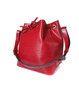 Authentic LOUIS VUITTON Petit Noe Red Epi Leather Drawstring Shoulder Bag  - $306.90