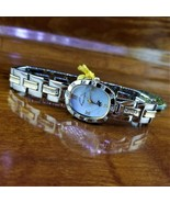 New Womens Polo Silver & Gold Swarovski Crystal Accent Watch Beverly Hil... - $95.00