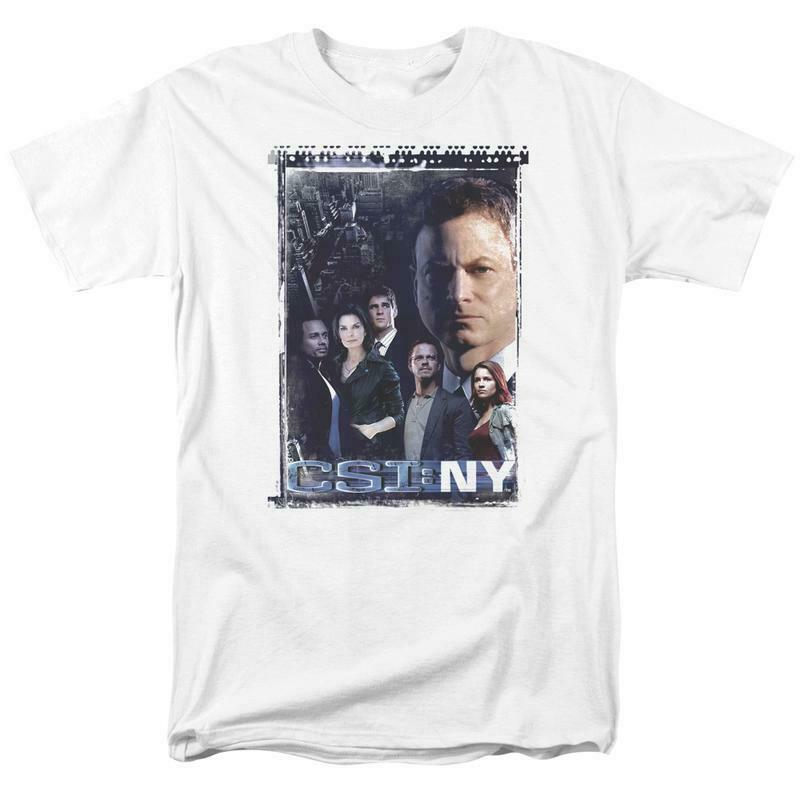 CSI NY T-shirt Free Shipping TV crime show 100% cotton graphic white tee CBS1044