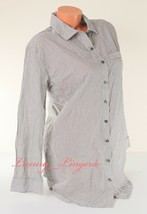 Victoria's Secret Long Sleeve Button-down Pajama Sleepshirt S Small Gray... - $21.99