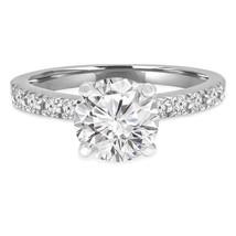 Mdw 3Ct Rond Anniversaire Solitaire Diamant Engagement Bague 925 Argent ... - $105.28