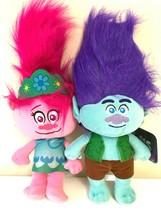 "Set of 2 LARGE DreamWorks Trolls Poppy & Branch Plush 14"" NEW Plush. Licensed. W - $35.99"