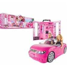 Barbie Dress up and Go 2 dolls 1 Glam Car & Ultimate Closet  - $99.99