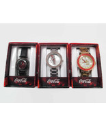 Coca-Cola  Accutime Set of 3 Watches Black Floating Crystal and Crystal ... - $38.36