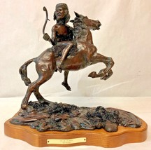 """BRONZE SCULPTURE BY RON BAKER """"Rear Guard"""", Signed and Numbered 3 of 24! - $816.75"""