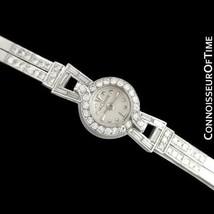 1952 JAEGER-LECOULTRE Vintage Ladies Backwind Platinum & Diamond Watch, ... - $2,935.10