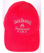 JACK DANIEL'S Tennessee Fire Hat-Red-Strapback-Embroidered-Whiskey-Bar - $9.48
