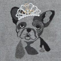 Mayoral Tween Girls Angora Blend Crown Bull Dog Intarsia Knit Sweater image 3