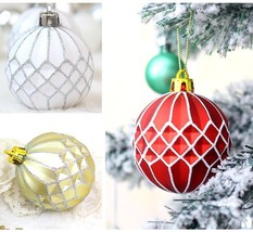 White Baubles Plastic Pendant Balls For Home Christmas Tree Decoration O... - $30.99+