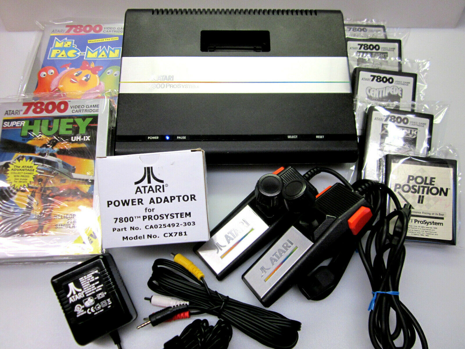 Primary image for Atari 7800 Refurbished Upgraded OS NTSC | PAL MODs AV | LED | Heat Sink ID OCT08
