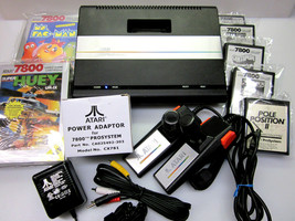 Atari 7800 Refurbished Upgraded Os Ntsc | Pal Mo Ds Av | Led | Heat Sink Id OCT08 - $475.00