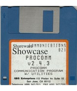 Shareware Showcase ProComm v2.4.3  by GBS Enterprises ~ 3.5 Software disk - $21.70