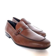 Y-2114209 New Salvatore Ferragamo Lion Black Castagna Leather Loafer Siz... - $509.65 CAD