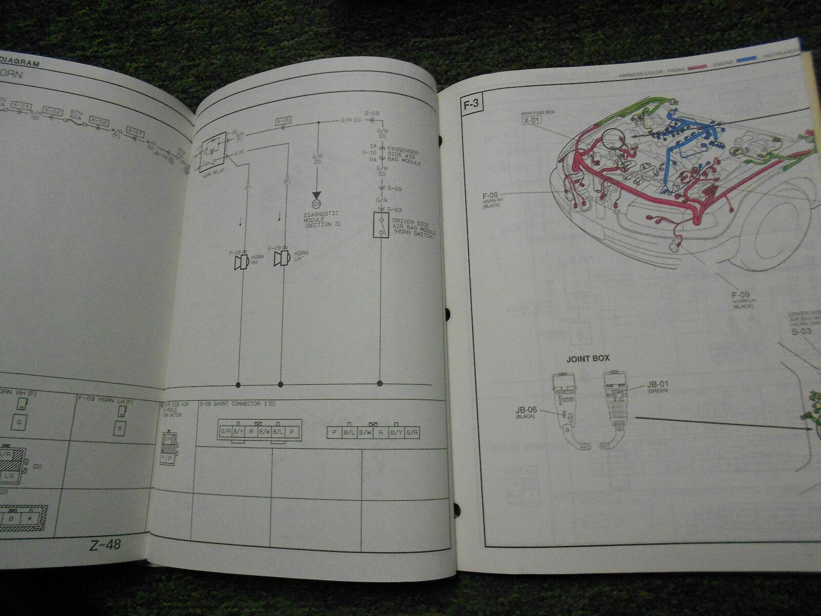 1993 Mazda 929 Elektrisch Wiring Fabrik OEM Bücher Autohaus 93