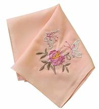 Set of 2 Chinese Style Ladies/Women's Embroidered Handkerchiefs, Pattern-2 - £10.69 GBP